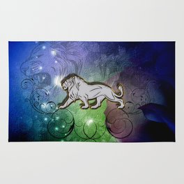 Wonderful lion silhouette Rug