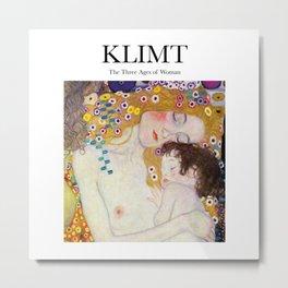 Klimt - The Three Ages of Woman Metal Print