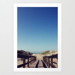 path to sea Art Print