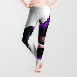 Scorpion geometric Animal  Zodiac sign Black and purple Leggings