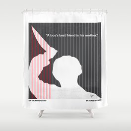 No185 My Psycho minimal movie poster Shower Curtain