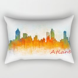 Atlanta City Skyline Hq v3 Rectangular Pillow