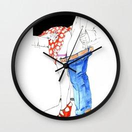 Nudegrafia - 006 fetish Wall Clock