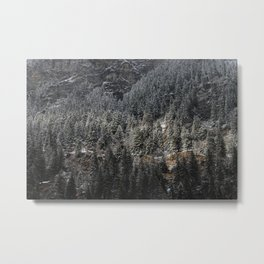 Powdered Mountain Metal Print