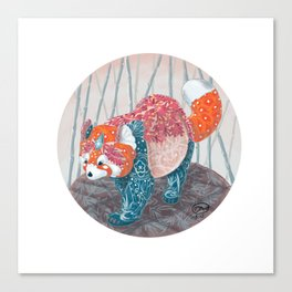 """ Red Panda "" by Teresa Ball ( TBall ) Canvas Print"