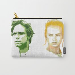 Luke Skywalker and Rey Carry-All Pouch