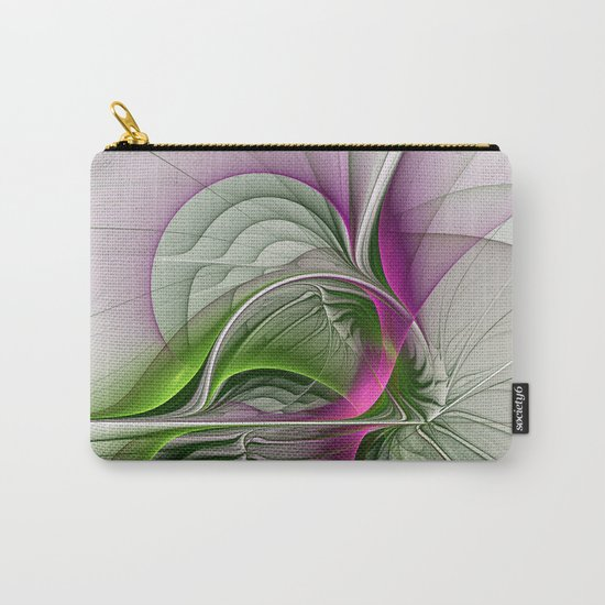Wild Beauty, Abstract Fractal Art Carry-All Pouch