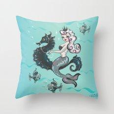Pearla on Seahorse Throw Pillow