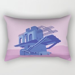 Soviet Modernism: Cable car station in Ijevan Rectangular Pillow