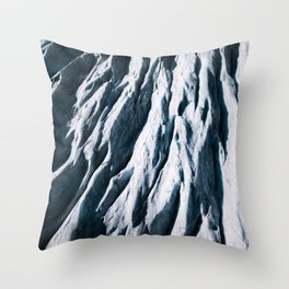Arctic Glacial Pattern from above - Landscape Photography Throw Pillow