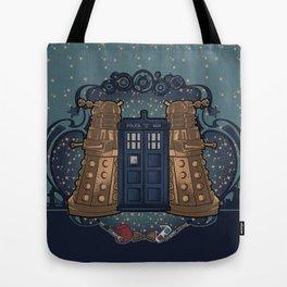 Art Nouveau Daleks and the TARDIS Tote Bag