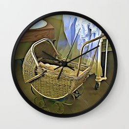 Once Upon a Time - Pram in the Nursery Wall Clock