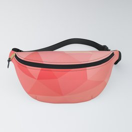 Shades of Coral Low Poly Design Fanny Pack