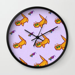 Very positive vintage cats and mouses on canvas print Wall Clock