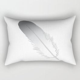 White Fuzz Feather Rectangular Pillow