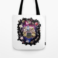 regular show Tote Bags featuring Regular Show lost in Universe by CarolaRT