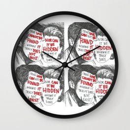 True Love Can(not) Be Found (Quad) Wall Clock