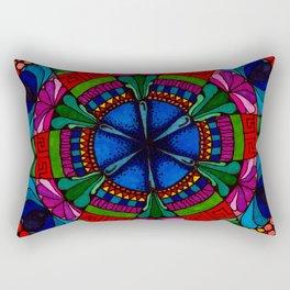 Mandala Flowers Rectangular Pillow