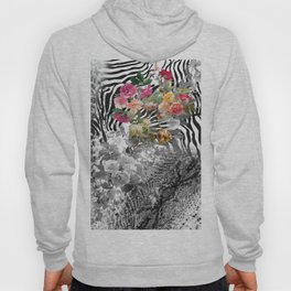 Flowers with Black and White Hoody