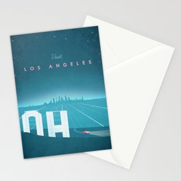 Vintage Los Angeles Travel Poster Stationery Cards