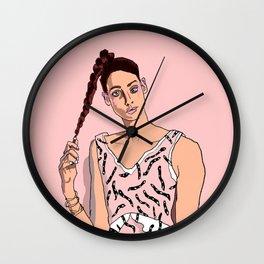 girl in dress Wall Clock