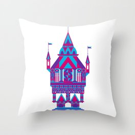 Castle in the Sky 02 Throw Pillow