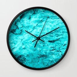 Ocean Blue Marble Wall Clock