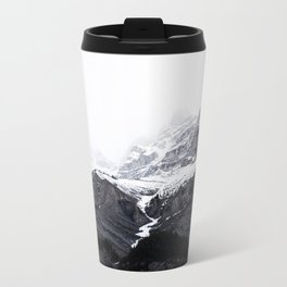 Moody snow capped Mountain Peaks - Nature Photography Metal Travel Mug