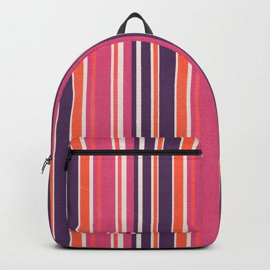 Happy Vertical LInes Pink Version Backpack