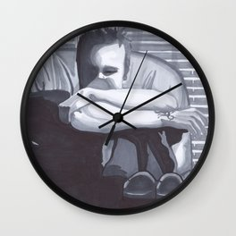 Pinkman alone with his thoughts Wall Clock