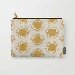 Golden Sun Pattern Carry-All Pouch