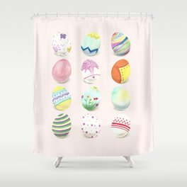 Painted Easter Eggs Shower Curtain