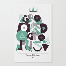 Crooked Typography Canvas Print