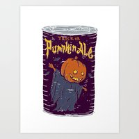 ale giorgini Art Prints featuring Pumpkin Ale by Moto