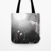 glee Tote Bags featuring Graduation Glee (part 2) by Cassandra Evelyn