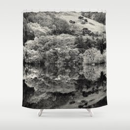 Finding bliss Shower Curtain