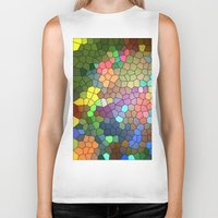 stained glass Biker Tanks featuring Stained Glass by Inspired By Fashion