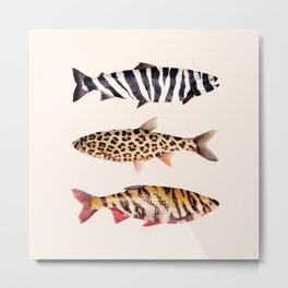 FISH PRINTS Metal Print