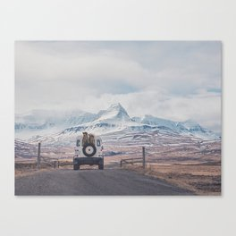 NEVER STOP EXPLORING ICELAND Canvas Print