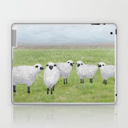 sheep and queen anne's lace Laptop & iPad Skin