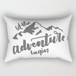 Let the Adventure Begin WHITE Rectangular Pillow