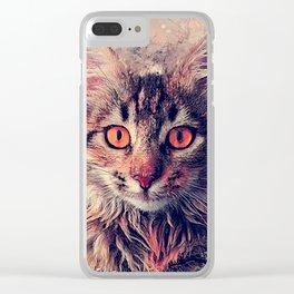 cat Jok #cat #cats #animals Clear iPhone Case
