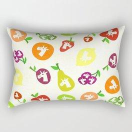 Fruity Unicorns Rectangular Pillow