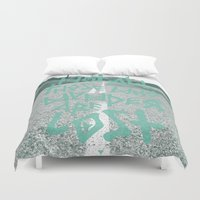 not all who wander are lost Duvet Covers featuring Not all those who wander are lost by ahutchabove