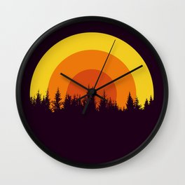 summer mountain Wall Clock