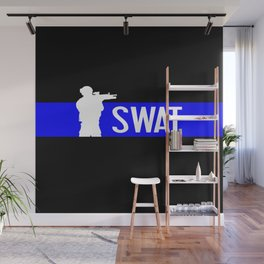 SWAT: Thin Blue Line Wall Mural