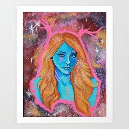 Galaxy Girl Series -6- Jennifer Art Print