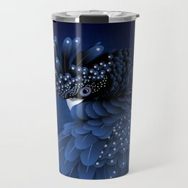 Australian Black Cockatoo Portrait Travel Mug