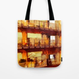 Living in old harbour stores Tote Bag