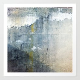 Stripe of yellow, hello Art Print